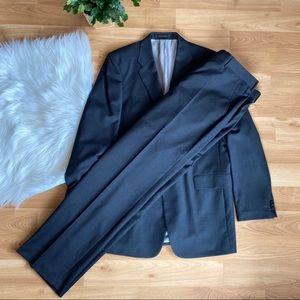 Express Black Mens jacket and producer pant set